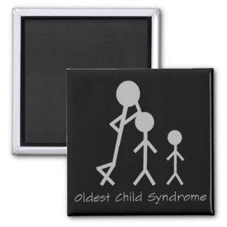 Lustiger Magnet des ältesten Kindersyndroms Quadratischer Magnet