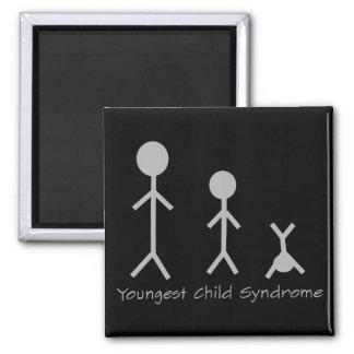 Lustiger Magnet des jüngstes Kindersyndroms Quadratischer Magnet