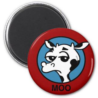 LUSTIGER MOO-KUH-MAGNET RUNDER MAGNET 5,7 CM