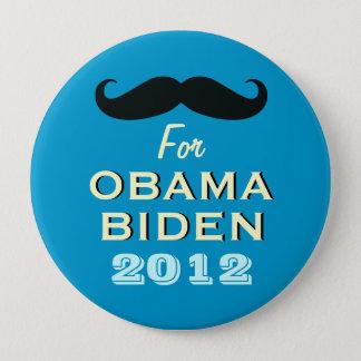 Lustiger Schnurrbart für großen Kampagnen-Knopf Runder Button 10,2 Cm