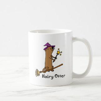 Lustiger Seeotter-Zauberer-Cartoon Tasse