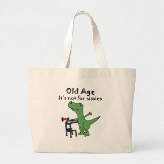Lustiger T-rex Dinosaurier unter Verwendung des Jumbo Stoffbeutel