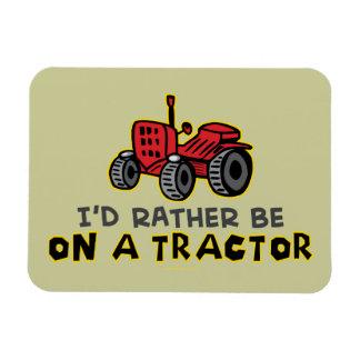 Lustiger Traktor Recchteckiger Magnet
