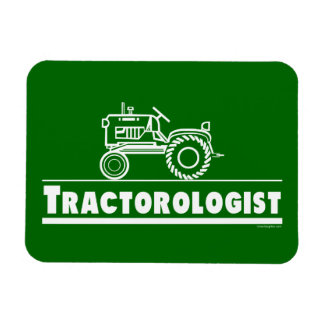 Lustiger Traktor Rechteckiger Fotomagnet