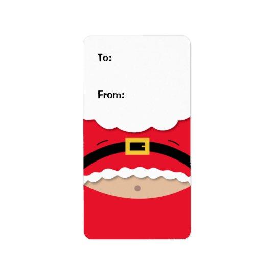 Lustiger Weihnachtsgeschenk-Umbau-Aufkleber Adress Aufkleber