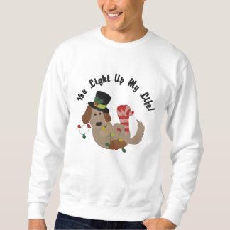 Lustiger Weihnachtslicht-verwirrter Hund Sweatshirt