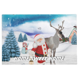 Lustiger Weihnachtsmann Türmatte
