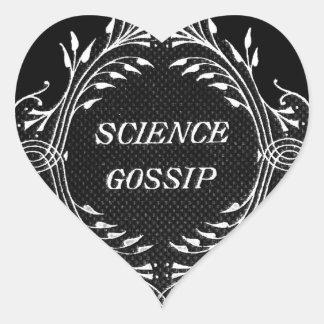Lustiger Wissenschafts-Klatsch-Entwurf Herz Sticker