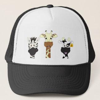 Lustiger Zebragiraffen-Kuh-Cartoon Truckerkappe