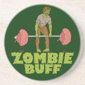 Lustiger Zombie-Büffelleder-Gewichts-Heber Getränkeuntersetzer