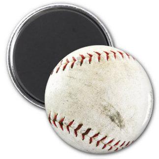 Lustiges Baseball-Foto Runder Magnet 5,7 Cm