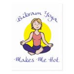 Lustiges Bikram Yoga-Geschenk Postkarten