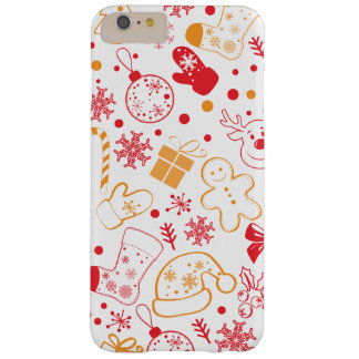 Lustiges buntes Christmassy Muster Barely There iPhone 6 Plus Hülle