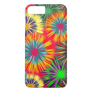 Lustiges buntes Feuerwerks-Muster iPhone 7 Plus Hülle