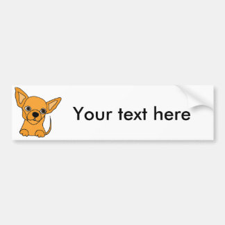 Lustiges Chihuahua-Hündchen Autoaufkleber