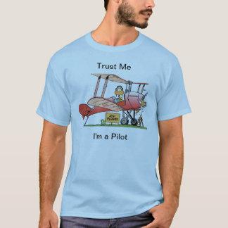 Lustiges Doppeldecker-PilotShirt T-Shirt