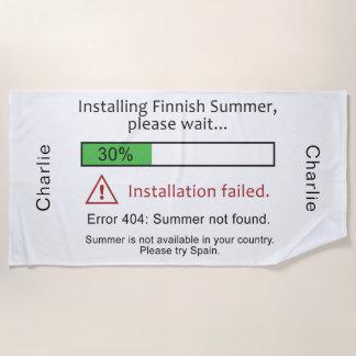 Lustiges finnisches SommerBadetuch Strandtuch