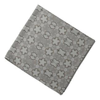 Lustiges geometrisches Muster mit Stern-silbernem Halstuch