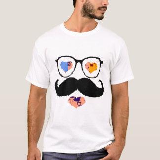 Lustiges Gesicht mit Schnurrbart 2 T-Shirt
