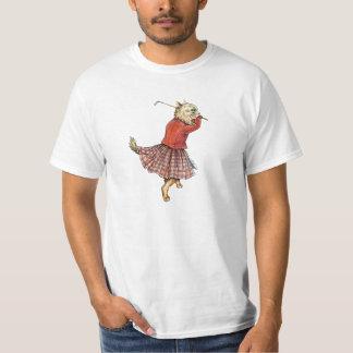 Lustiges Golf spielendes Katzen-T-Shirt T-Shirt