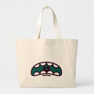 Lustiges großes Mund-Monster Jumbo Stoffbeutel