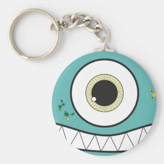 Lustiges grünes Monster Keychain Schlüsselanhänger
