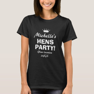 Lustiges Henne-Party-Nachtt-shirt für Mädchennacht T-Shirt