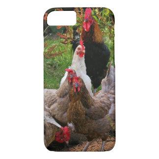 Lustiges Hof-Hühner u. Hahn iPhone Fall iPhone 8/7 Hülle