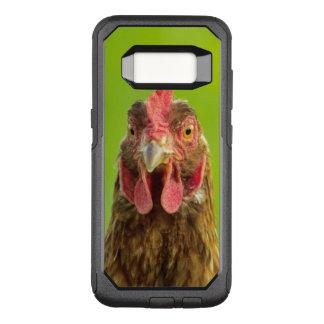 Lustiges Huhn auf einem grünen Hintergrund OtterBox Commuter Samsung Galaxy S8 Hülle