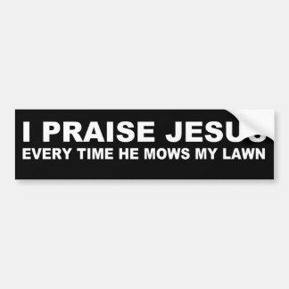 Lustiges Jesus-Zitat Autoaufkleber