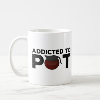 Lustiges Kaffee-Tassen-Geschenk - gewöhnt zum Topf Kaffeetasse