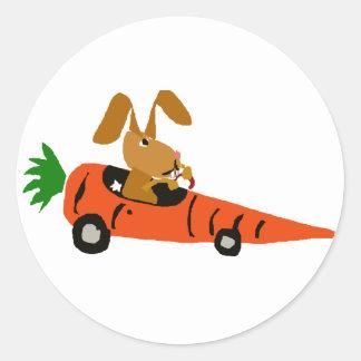Lustiges Kaninchen des Häschen-TA, das Runder Aufkleber