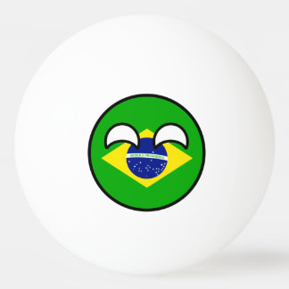 Lustiges neigendes Geeky Brasilien Countryball Ping-Pong Ball