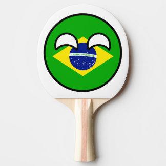 Lustiges neigendes Geeky Brasilien Countryball Tischtennis Schläger