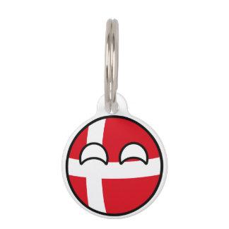 Lustiges neigendes Geeky Dänemark Countryball Tiermarke Mit Namen