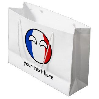 Lustiges neigendes Geeky Frankreich Countryball Große Geschenktüte