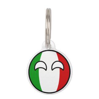 Lustiges neigendes Geeky Italien Countryball Tiermarken Mit Namen