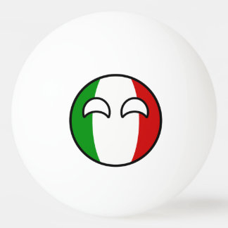 Lustiges neigendes Geeky Italien Countryball Tischtennis Ball