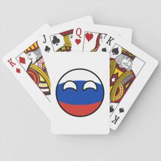 Lustiges neigendes Geeky Russland Countryball Spielkarten