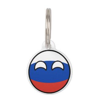 Lustiges neigendes Geeky Russland Countryball Tiernamensmarke