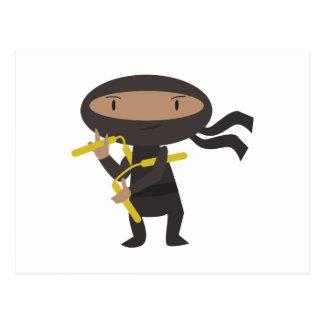 Lustiges Ninja Postkarte