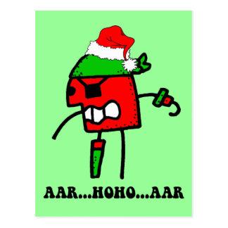 Lustiges Pirat Weihnachten Postkarte