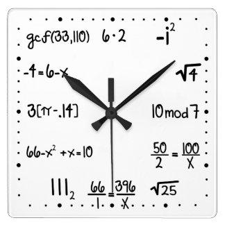 Lustiges Pop-Quiz-Mathe-Genie Uhren