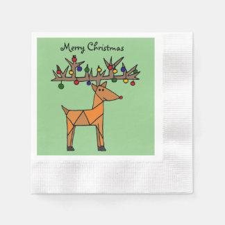 Lustiges Ren-Weihnachten abstrakt Papierservietten