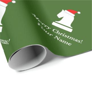 Lustiges Schachstück-Muster WeihnachtsPackpapier Geschenkpapier