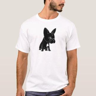 Lustiges schwarzes französische T-Shirt