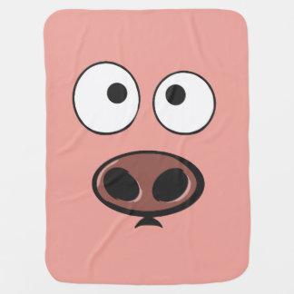 Lustiges Schwein Babydecke