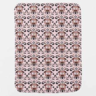 Lustiges Schwein-Damast-Muster Puckdecke