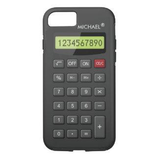 Lustiges Taschenrechner-Muster personalisiertes iPhone 8/7 Hülle