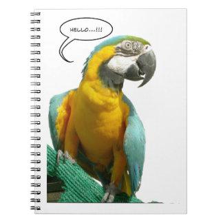 Lustiges Unterhaltungs-Papageien-Notizbuch Spiral Notizblock